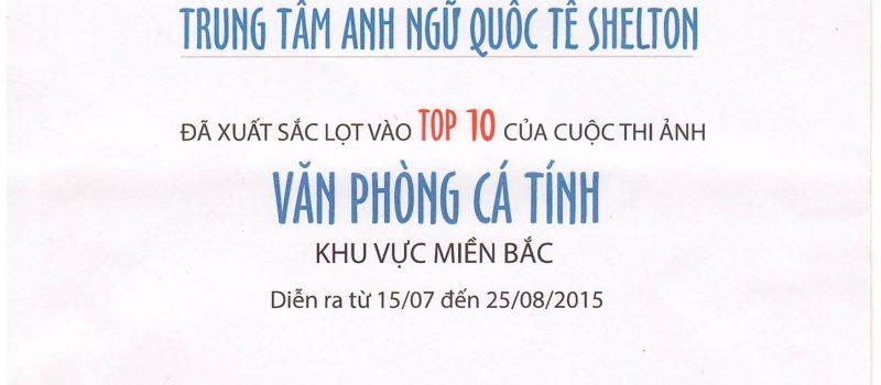 SHELTON ENGLISH VIETNAM LỌT TOP 10 VĂN PHÒNG CÁ TÍNH 2015