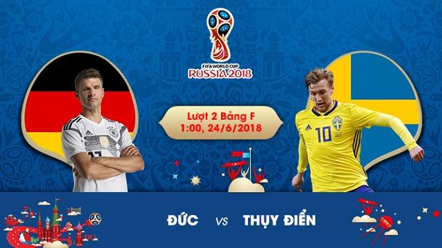 Soi kèo World Cup Đức vs Thụy Điển, 1h00 ngày 24/06 1