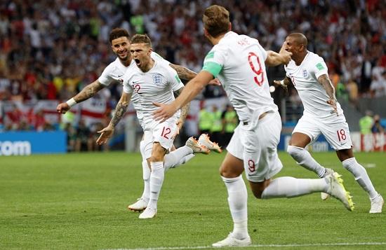 Các cầu thủ đội tuyển Anh mở tỷ số ngay ở phút thứ 4.