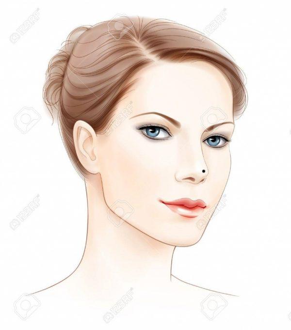 nốt ruồi trên mũi phụ nữ
